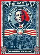 Yes We Did poster by Shepard Fairey