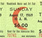 Original Woodstock ticket stub