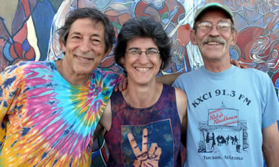 Core Wayback members, August 2009 - Jim, Bev and Tom